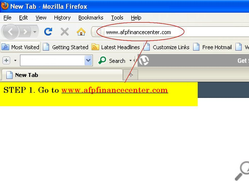 AFP Finance Center - Online pay/pension slip viewing